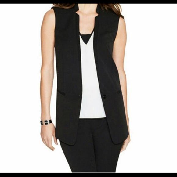 c521fbee0a White House Black Market Black open front vest. M 5b20946e0cb5aa386f8c6cc9